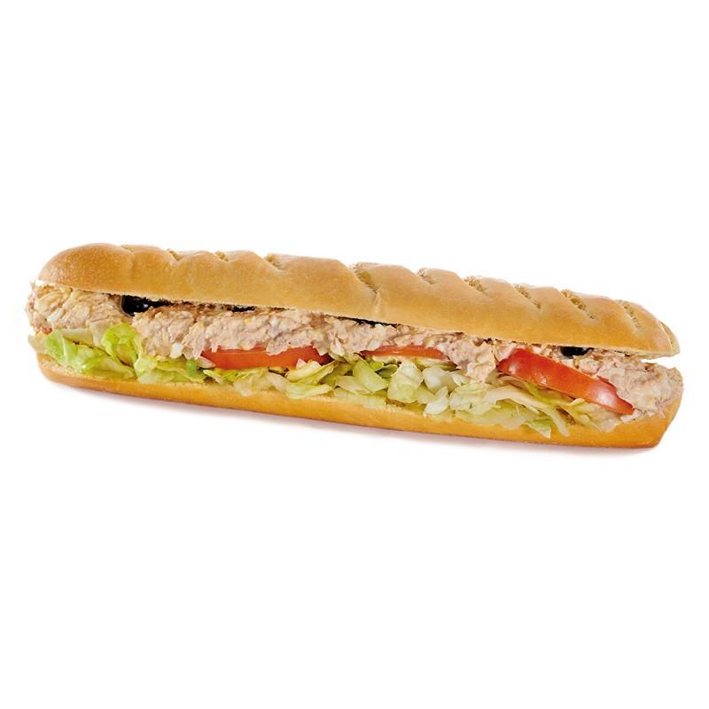 Sandwich Le Tomathon Ingrédients : Thon, tomates, œufs, sauce ail et basilic, olives noires. 3 sortes de pains disponibles : ...