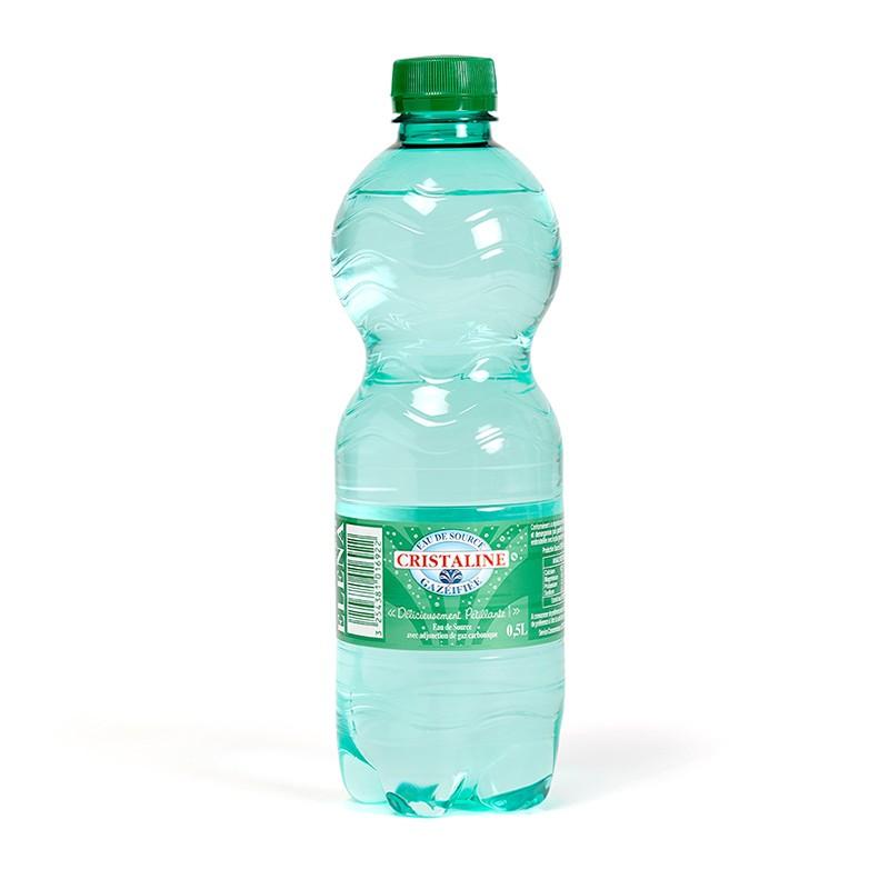 Cristaline Eau Pétillante 50 cl Eau de source naturelle Cristaline gazéifiée - 50cl
