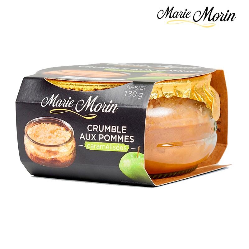 Crumble aux pommes Marie Morin Crumble aux pommes caramélisées Marie Morin - Pot 130g.