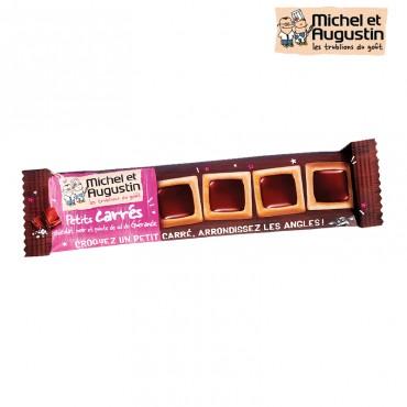 Petits carrés chocolats biscuités Michel et Augustin 1 paquet de 33,6 gr de Petits Carrés au Beurre, Pointe de Sel et chocola...